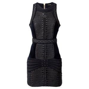 Balmain X H&M Black Corded Velvet Dress 12